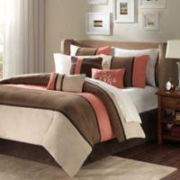 Madison Park Palisades 7-Piece Reversible California King Comforter Set in Coral/Natural