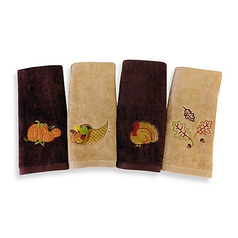 Harvest Fingertip Towels Set Of 4 Bed Bath Amp Beyond