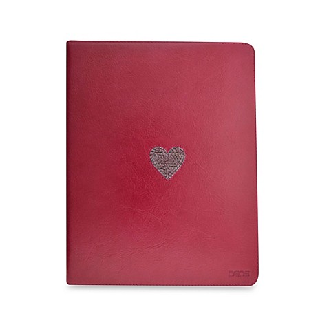 DEOS Leather & Crystal iPad® Folio Case in Pink