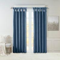 Madison Park Emilia 84-Inch Twist Tab Top Window Curtain Panel in Teal