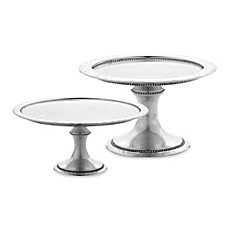 Reed and Barton Heritage Collection Banded Bead Cake Stand