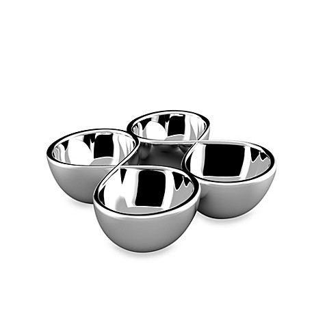 Nambe 4-Section Infinity Hors D'Oeuvre Tray