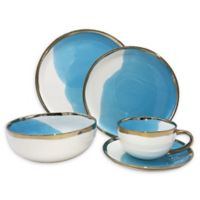 canvas home™ Dauville Gold 5-Piece Place Setting in Blue