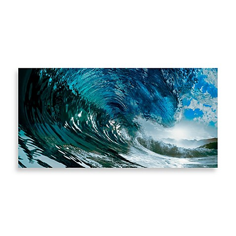 Large Canvas Wave Surfer Wall Bed Bath And Beyond Wall Art