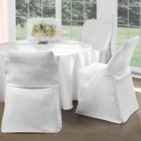 Folding Chair Cover in White