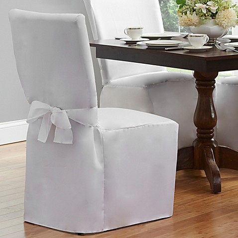 Dining room chair cover bed bath beyond for Dining room chair covers