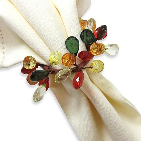autumn sparkle napkin ring bed bath beyond