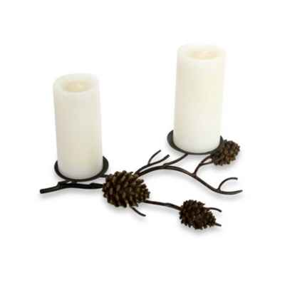 Pine Cone Table Pillar Candle Holder