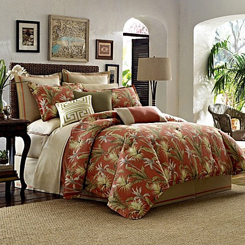 Tommy bahama catalina comforter set in tangerine bed Tommy bahama bedding