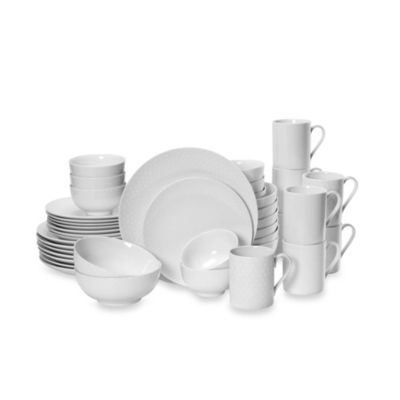 Mikasa® Cheers White 40-Piece Dinnerware Set  sc 1 st  Bed Bath \u0026 Beyond : bed bath and beyond dinnerware - pezcame.com