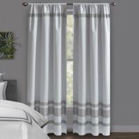 Wamsutta® Hotel 84-Inch Rod Pocket/BackTab Blackout Window Curtain Panel in White/Grey