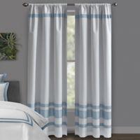 Wamsutta® Hotel 84-Inch Rod Pocket/BackTab Blackout Window Curtain Panel in White/Slate