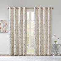 Intelligent Design Raina 63-Inch Grommet Window Curtain Panel in Ivory