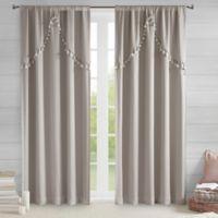 Intelligent Design Esther 84-Inch Rod Pocket Window Curtain Panel in Grey
