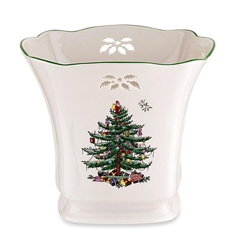 Spode Christmas Tree Pierced Square Pointsettia Planter Bed Bath Beyond