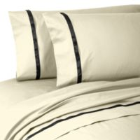 Waterford® Linens Kiley Standard Pillowcases in Ivory (Set of 2)