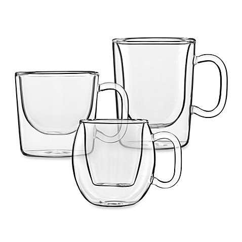 Luigi Bormioli Double Wall Glass Espresso Cups