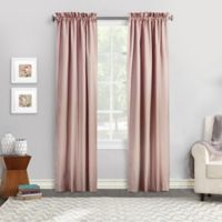 Commonwealth Home Fashions Ticking Stripe 84-Inch Rod Pocket Window Curtain Panel Pair in Burgundy