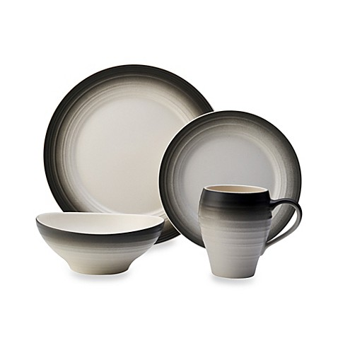 Mikasa® Swirl Ombre Dinnerware Collection in Graphite - Bed Bath u0026 Beyond  sc 1 st  Bed Bath u0026 Beyond & Mikasa® Swirl Ombre Dinnerware Collection in Graphite - Bed Bath ...