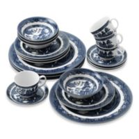 Johnson Brothers Willow Blue 20-Piece Dinnerware Set
