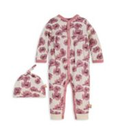Burt's Bees Baby® Newborn 2-Piece Dancing Poppy Organic Cotton Jumpsuit and Hat Set