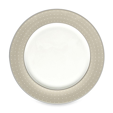 Monique Lhuillier Waterford® Etoile Platinum 12-Inch Charger Plate in Tan
