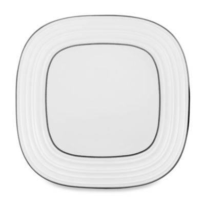 Mikasa® Swirl Square Banded 10-3/4-Inch White Dinner Plate  sc 1 st  Bed Bath \u0026 Beyond & Buy 10\