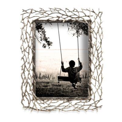 prinz whitman silver metal branch 4 x 6 frame
