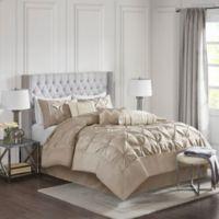 Madison Park Laurel Taupe 7-Piece Comforter Set - King