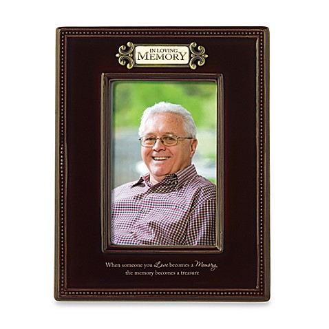 In Loving Memory Ceramic 4-Inch x 6-Inch Photo Frame - Bed Bath & Beyond