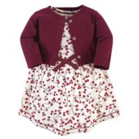 Touched by Nature Size 3T 2-Piece Berry Branch Organic Cotton Dress and Cardigan Set