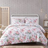 Cottage Classics® Blooms 3-Piece King Duvet Set in White/Pink
