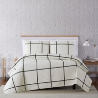 Truly Soft® Kurt Windowpane 2-Piece Twin XL Quilt Set in Ivory/Black
