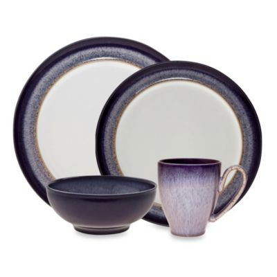 Denby Heather 4-Piece Place Setting  sc 1 st  Bed Bath u0026 Beyond & Buy Purple Dinnerware Sets from Bed Bath u0026 Beyond