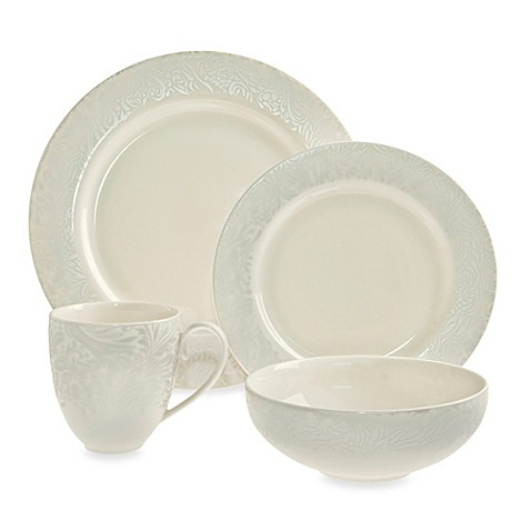 Denby Monsoon Lucille Silver 4-Piece Place Setting  sc 1 st  Bed Bath u0026 Beyond & Denby Monsoon Lucille Silver 4-Piece Place Setting - Bed Bath u0026 Beyond