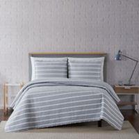 Truly Soft® Maddow Stripe 2-Piece Twin XL Quilt Set in Grey