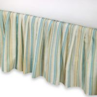 Natural Shells Twin Bed Skirt in Blue/Beige