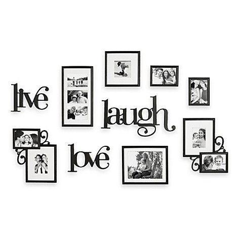 Wallverbs 10 piece live laugh love wall collection bed for Live laugh love wall art
