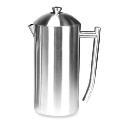 Insulated Brushed Stainless Steel French Press