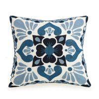 Jessica Simpson Aziza Square Throw Pillow in Blue