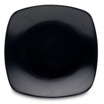 Noritake® Black on Black Dune Square Dinner Plate  sc 1 st  Bed Bath \u0026 Beyond & Buy Black Square Dinner Plates from Bed Bath \u0026 Beyond