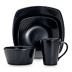 Noritake® Black on Black Dune 4-Piece Square Place Setting
