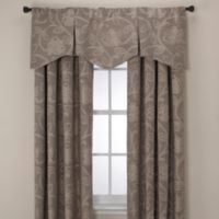 Jacobean Pleated Window Valance in Linen