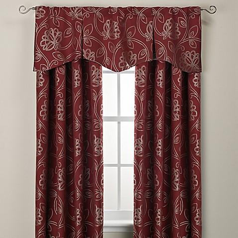 Jacobean Rod Pocket Back Tab Window Curtain Panel And