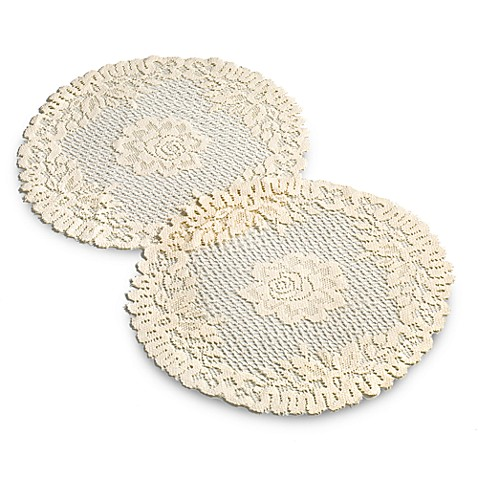Verona Lace 15-Inch Round Doilie (Set of 2)