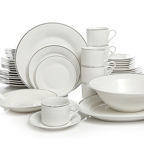 Gibson Home Studio Platinum 50-Piece Dinnerware Set  sc 1 st  Bed Bath \u0026 Beyond : home dinnerware set - pezcame.com