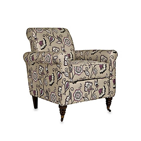 angelo:HOME Harlow Arm Chair with Vintage Lavender Purple Floral Cover
