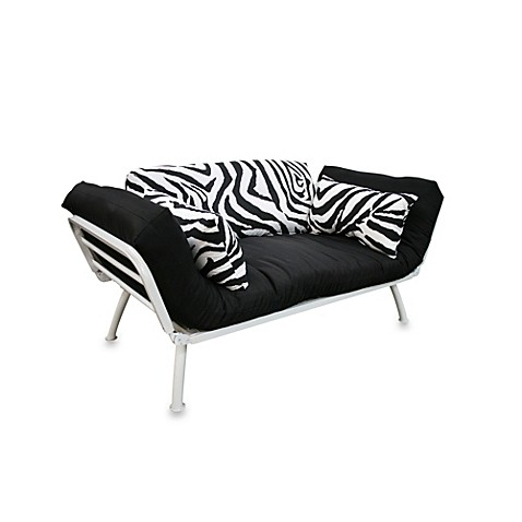 Mali Flex Futon Combo In Zebra Print With White Frame