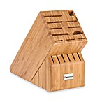 Wusthof® 17-Slot Bamboo Wood Knife Block