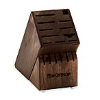Wusthof® 17-Slot Walnut Wood Knife Block